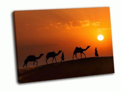 Картина два индийских погонщика верблюдов