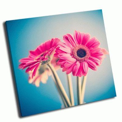 Картина два розовых цветка