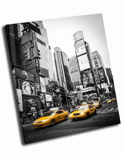 Картина два такси в нью-йорке
