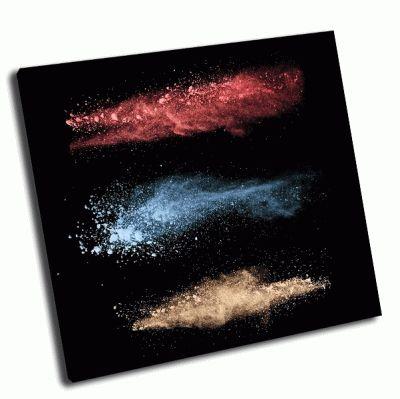 Картина движение цветных взрывов