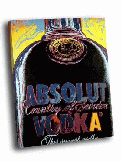 Картина э. уорхол - absolut vodka