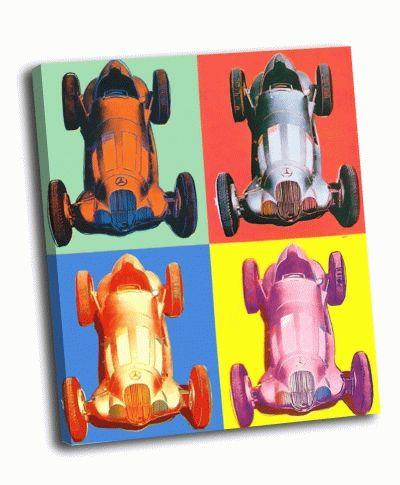 Картина э. уорхол - benz racing car