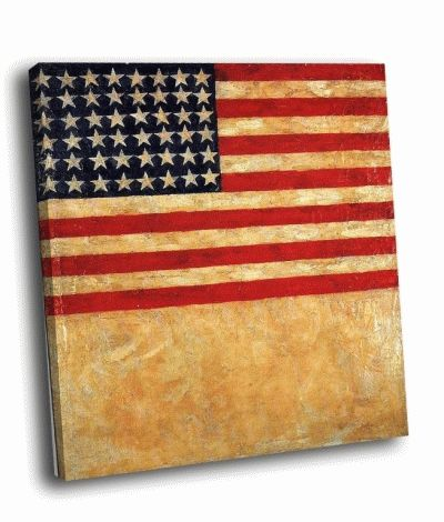 Картина э. уорхол - флаг сша