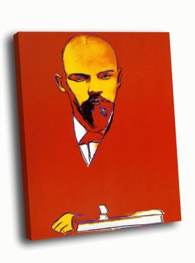 Картина э. уорхол - красный ленин