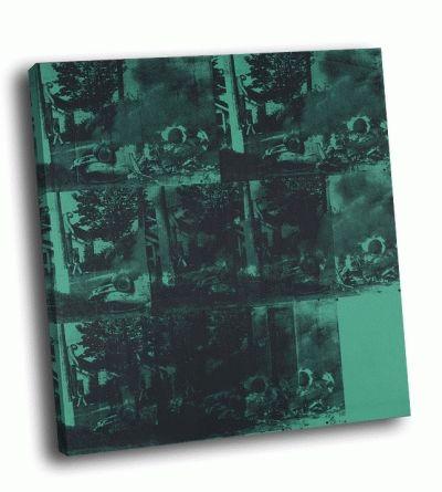 Картина э. уорхол - зелёная автокатастрофа (зелёная горящая машина)
