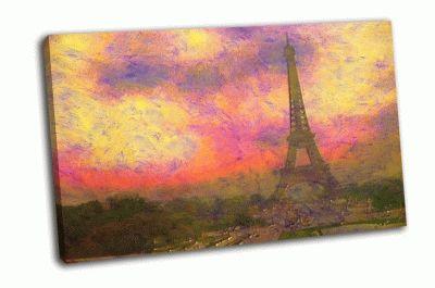 Картина эйфелева башня маслом