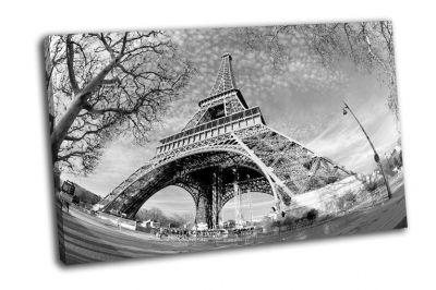 Картина эйфелева башня в черно-белом