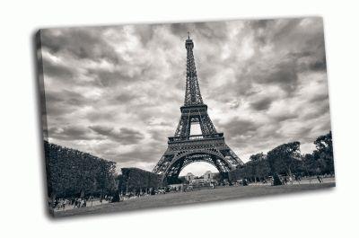 Картина эйфелева башня в черно-белом цвете