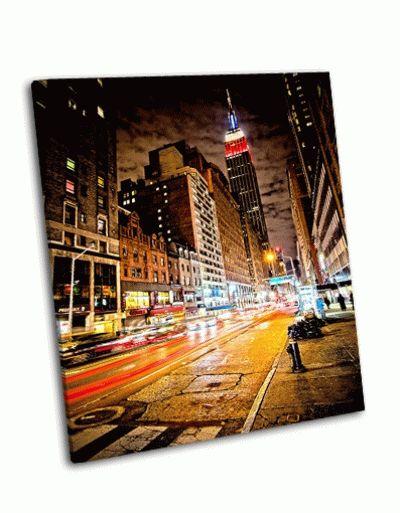 Картина эмпайр-стейт-билдинг, нью-йорк
