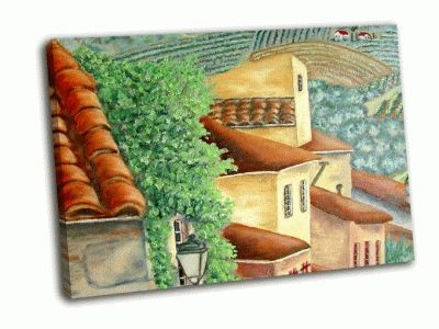 Картина европейская деревня