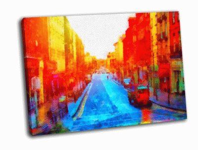 Картина европейская провинциальная улица