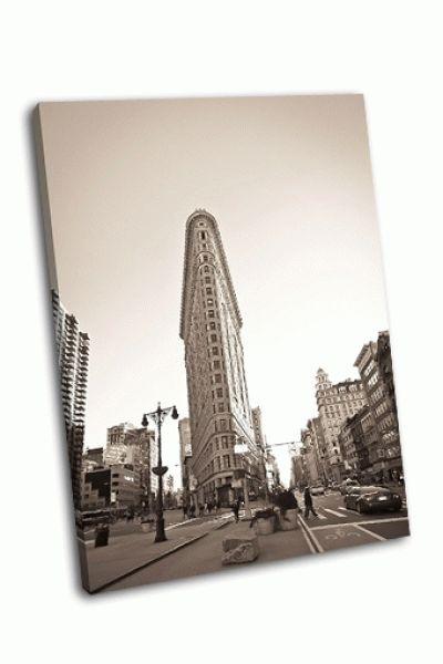 Картина фасад здания в нью-йорке