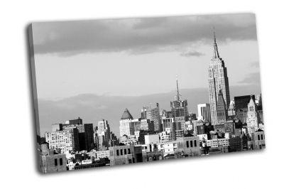 Картина финансовый район небоскребов в нью-йорке