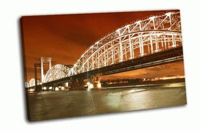 Картина финляндский железнодорожный мост, серый