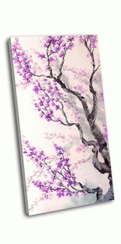 Картина фиолетовые цветы и бутоны