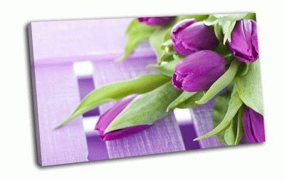 Картина фиолетовые тюльпаны