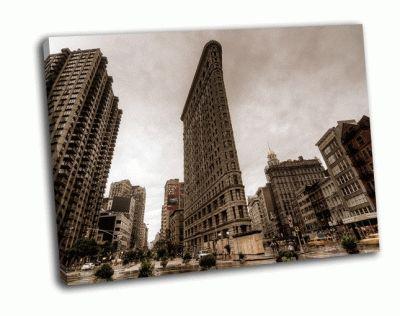 Картина флэтайрон-билдинг, нью-йорк