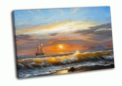 Картина фон морского заката