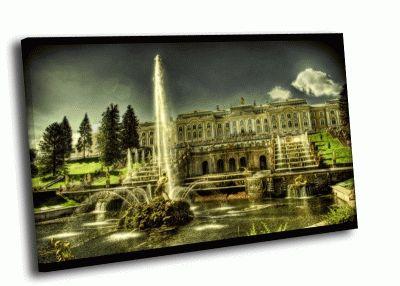 Картина фонтаны петродворца