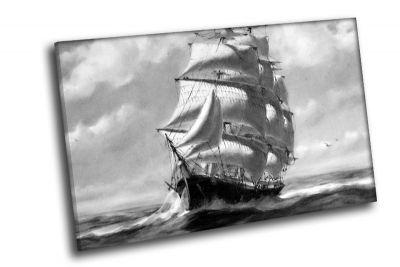 Картина фрегат на волнах