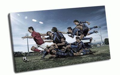 Картина футбол - напролом