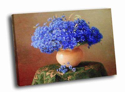 Картина г.п.кондратенко - натюрморт с васильками