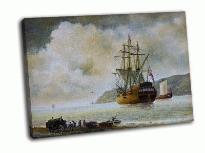 Картина галеон в море