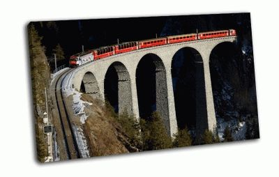 Картина железная дорога в швейцарии
