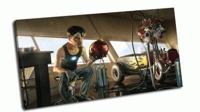Картина железный человек тони старк - анимация