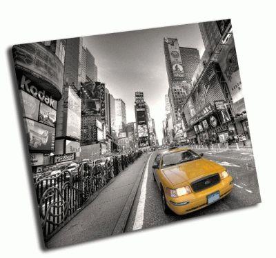 Картина желтое такси нью-йорка