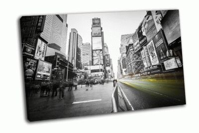 Картина желтые такси на таймс-сквер