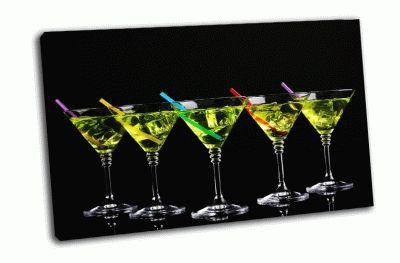 Картина желтый коктейл в бокалах