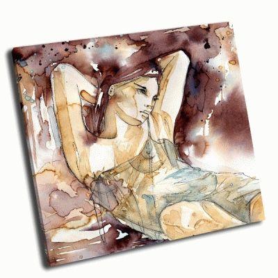 Картина женщина с локонами