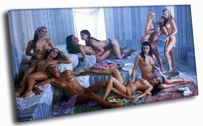 Картина женская сауна