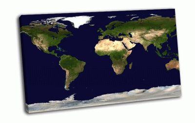 Картина географическая карта