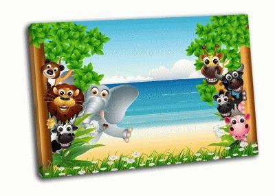 Картина животные на пляже