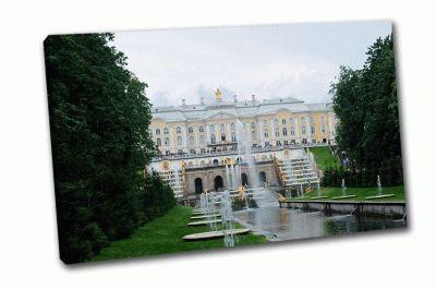 Картина главный фонтан, петергоф