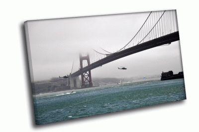 Картина golden gate вертолет