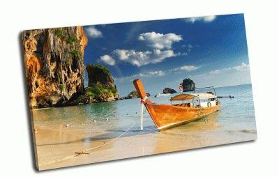 Картина голубая лагуна, лодка