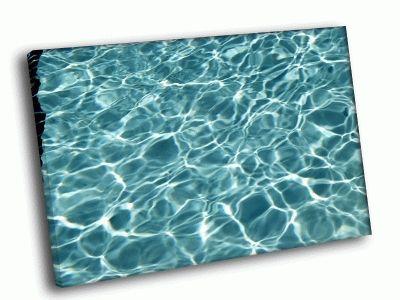 Картина голубая прозрачная вода