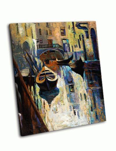 Картина гондолы в красивой венеции