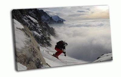 Картина горнолыжник