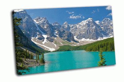 Картина горные озера в канаде