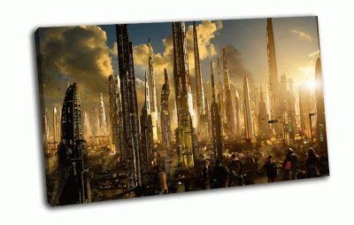 Картина город из будущего
