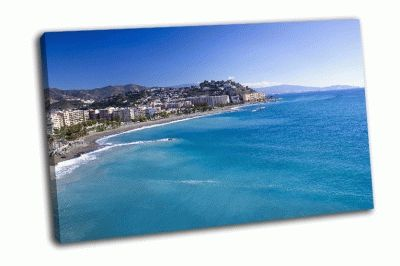 Картина город на берегу испании