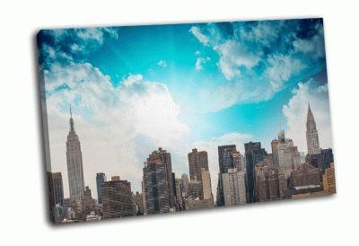 Картина городские здания и небоскребы