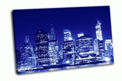 Картина городской горизонт нижнего манхэттена
