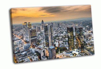 Картина городской пейзаж франкфурта