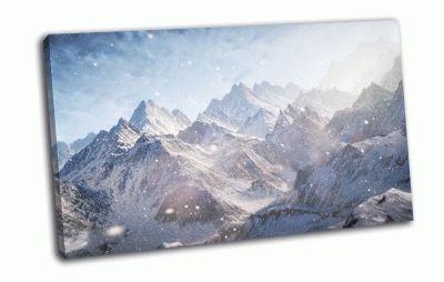 Картина горы, снег