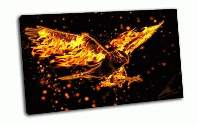 Картина горящий орел